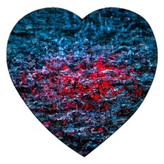 Water Color Red Jigsaw Puzzle (heart) by FunnyCow
