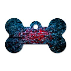 Water Color Red Dog Tag Bone (one Side) by FunnyCow