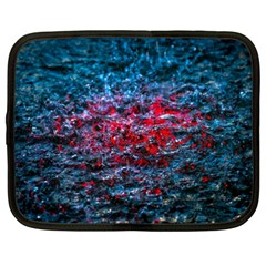 Water Color Red Netbook Case (xxl)  by FunnyCow