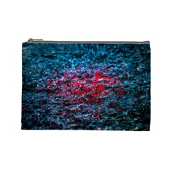 Water Color Red Cosmetic Bag (large)  by FunnyCow