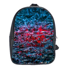 Water Color Red School Bag (large) by FunnyCow