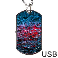 Water Color Red Dog Tag Usb Flash (one Side) by FunnyCow