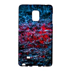 Water Color Red Samsung Galaxy Note Edge Hardshell Case by FunnyCow