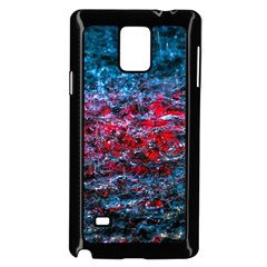 Water Color Red Samsung Galaxy Note 4 Case (black) by FunnyCow