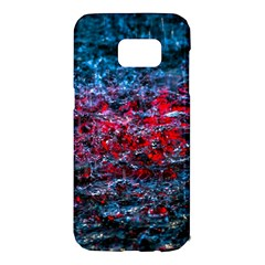 Water Color Red Samsung Galaxy S7 Edge Hardshell Case by FunnyCow
