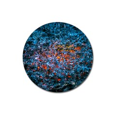 Water Color Orange Magnet 3  (round) by FunnyCow