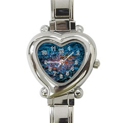 Water Color Orange Heart Italian Charm Watch by FunnyCow