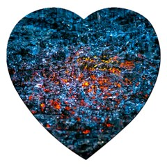 Water Color Orange Jigsaw Puzzle (heart) by FunnyCow