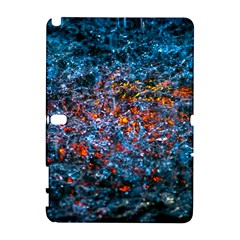 Water Color Orange Samsung Galaxy Note 10 1 (p600) Hardshell Case by FunnyCow