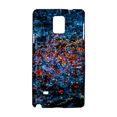 Water Color Orange Samsung Galaxy Note 4 Hardshell Case by FunnyCow
