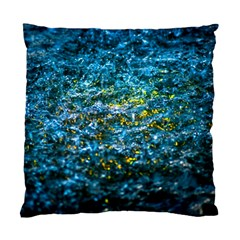 Water Color Yellow Standard Cushion Case (one Side) by FunnyCow