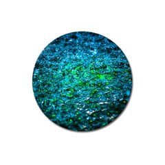 Water Color Green Magnet 3  (round) by FunnyCow