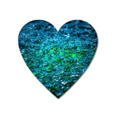 Water Color Green Heart Magnet by FunnyCow