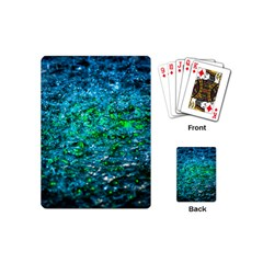 Water Color Green Playing Cards (mini)  by FunnyCow