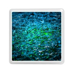 Water Color Green Memory Card Reader (square)  by FunnyCow