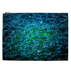 Water Color Green Cosmetic Bag (xxl)  by FunnyCow