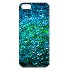 Water Color Green Apple Seamless Iphone 5 Case (clear) by FunnyCow