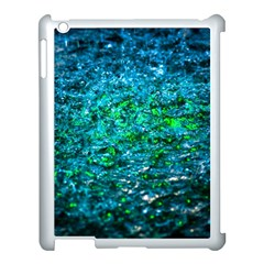 Water Color Green Apple Ipad 3/4 Case (white) by FunnyCow