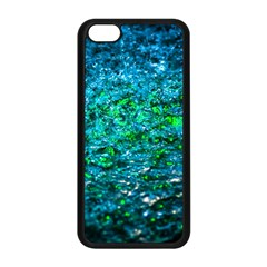Water Color Green Apple Iphone 5c Seamless Case (black) by FunnyCow