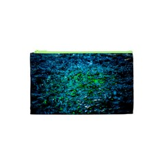 Water Color Green Cosmetic Bag (xs) by FunnyCow