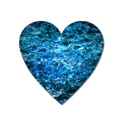 Water Color Blue Heart Magnet by FunnyCow