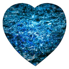 Water Color Blue Jigsaw Puzzle (heart) by FunnyCow