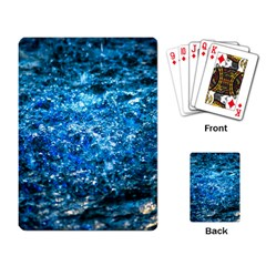 Water Color Blue Playing Card by FunnyCow