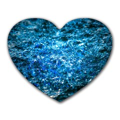 Water Color Blue Heart Mousepads by FunnyCow