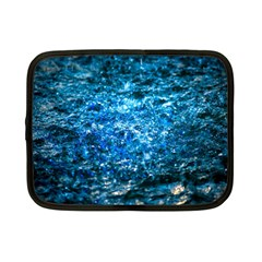 Water Color Blue Netbook Case (small)  by FunnyCow
