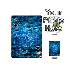 Water Color Blue Playing Cards 54 (mini)  by FunnyCow