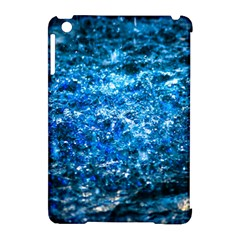 Water Color Blue Apple Ipad Mini Hardshell Case (compatible With Smart Cover) by FunnyCow