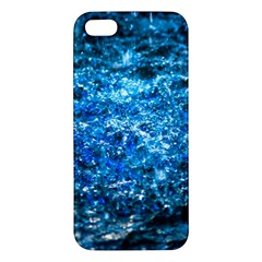 Water Color Blue Apple Iphone 5 Premium Hardshell Case by FunnyCow