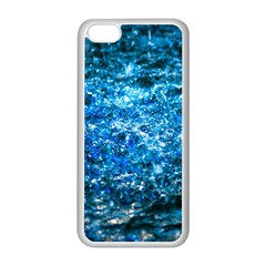 Water Color Blue Apple Iphone 5c Seamless Case (white) by FunnyCow