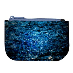 Water Color Blue Large Coin Purse