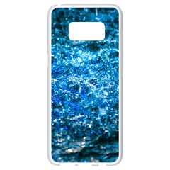 Water Color Blue Samsung Galaxy S8 White Seamless Case by FunnyCow