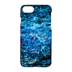 Water Color Blue Apple Iphone 8 Hardshell Case by FunnyCow
