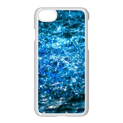 Water Color Blue Apple Iphone 8 Seamless Case (white) by FunnyCow