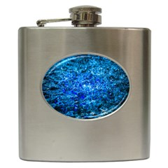 Water Color Navy Blue Hip Flask (6 Oz) by FunnyCow