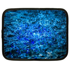 Water Color Navy Blue Netbook Case (xxl)  by FunnyCow