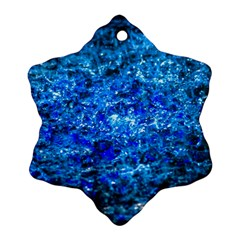 Water Color Navy Blue Snowflake Ornament (two Sides) by FunnyCow