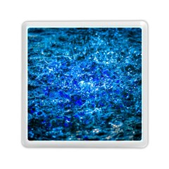 Water Color Navy Blue Memory Card Reader (square)  by FunnyCow