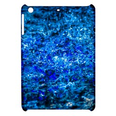 Water Color Navy Blue Apple Ipad Mini Hardshell Case by FunnyCow