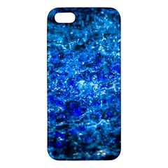 Water Color Navy Blue Apple Iphone 5 Premium Hardshell Case by FunnyCow