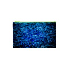 Water Color Navy Blue Cosmetic Bag (xs) by FunnyCow