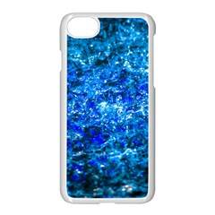 Water Color Navy Blue Apple Iphone 7 Seamless Case (white) by FunnyCow