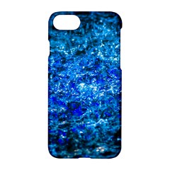 Water Color Navy Blue Apple Iphone 8 Hardshell Case by FunnyCow