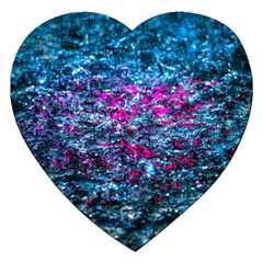 Water Color Violet Jigsaw Puzzle (heart) by FunnyCow