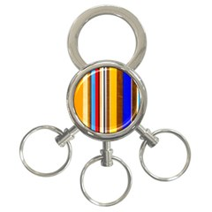 Colorful Stripes 3 Ring Key Chains by FunnyCow