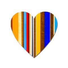 Colorful Stripes Heart Magnet by FunnyCow