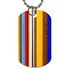 Colorful Stripes Dog Tag (two Sides) by FunnyCow